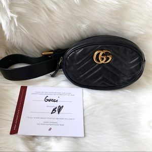 Authentic Gucci Marmont Belt Bag - Size 75